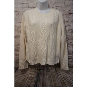 Banana Republic Cream Knitted Sweater NEW